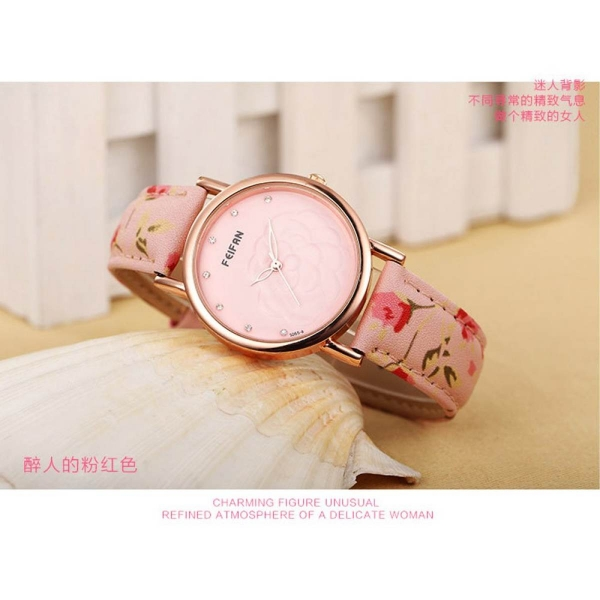 Đồng hồ nữ thời trang dây da sợi tổng hợp SD005HONG (Hồng)