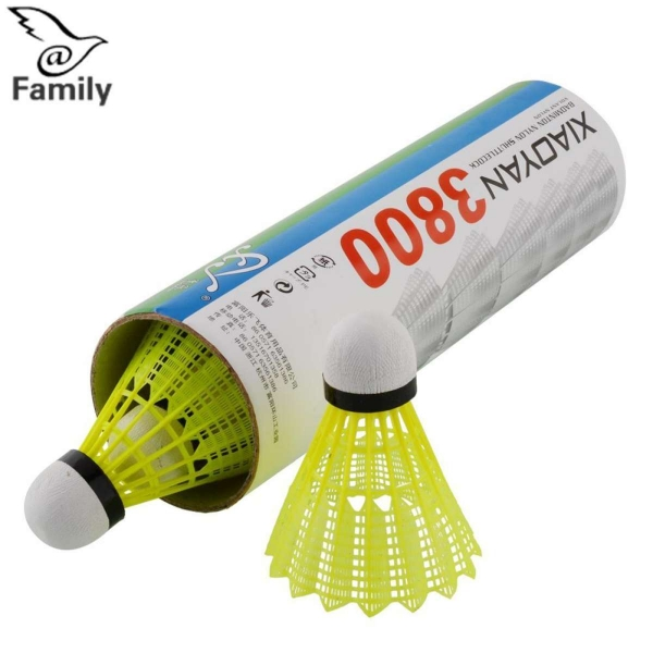 Big Family:6pcs Train Yellow Nylon Shuttlecocks Badminton Ball Game Sport Durable Useful - intl