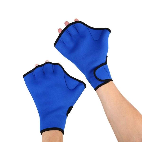 Aukey 1 Pair Surfing Swimming Equipment Sports Paddle Training Fingerless Water Gloves - intl