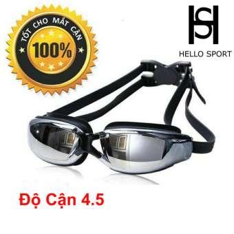 Kính Bơi Cận Từ 1,5 Độ Đến 8,0 Độ Tráng Gương Chống UV Cao Cấp HS
