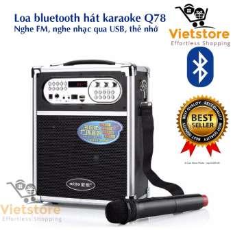 Loa bluetooth hát karaoke kiêm trợ giảng xách tay đa năng tặng