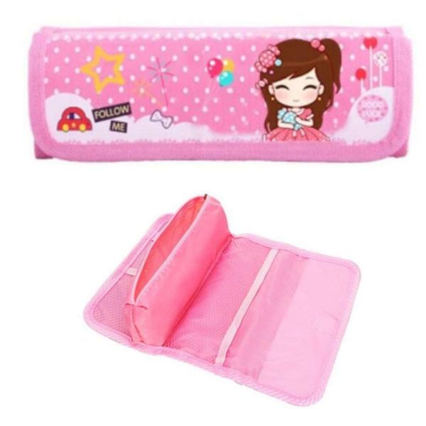 Balo chống gù, chống nước dành cho bé gái tiểu học Coolbaby MS02 (xanh viền hồng)