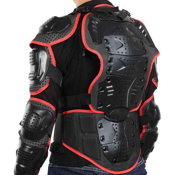 Motorcycle Full Body Armor Jacket Spine Chest Protector Gear M Size