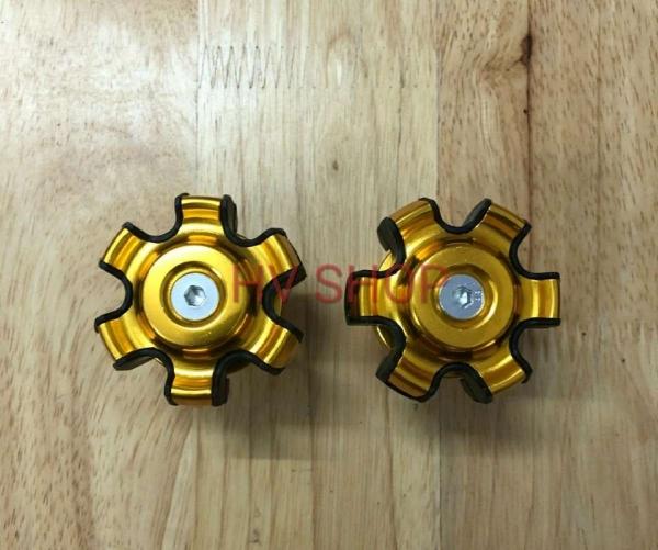 gu chong do xe may hv shop bộ 2 gù chống đổ trước moto xe máy HV 9  cao cấp ( vàng ) ( 1 cặp )
