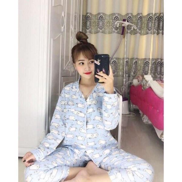 Bộ ngủ Pyjama tay dài quần dài
