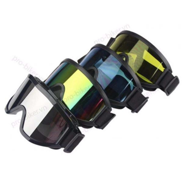 Kính tráng gương gắn mũ nón bảo hiểm đi phượt chống tia UV