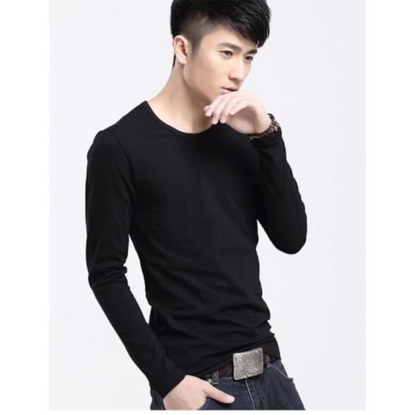 Áo thun nam tay dài trơn cao cấp LB FASHION ( đen )