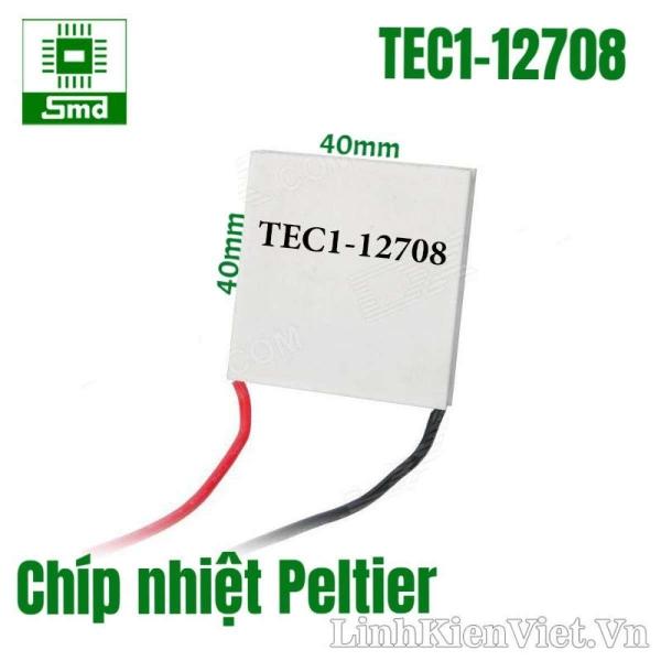 Chíp nhiệt Peltier TEC1-12708(40mmx40mmx3.5mm)