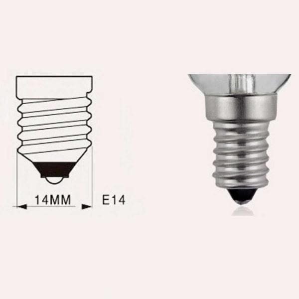 Bộ 10 bóng đèn Led nến giả dây tóc Edision 4 đường Led - 4W đuôi E14 (Ánh sáng trắng)