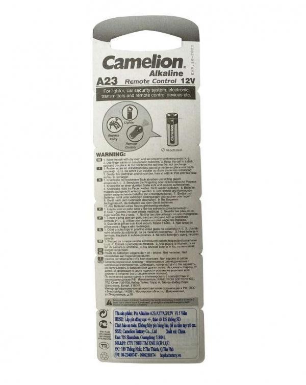 Vỷ 5 Viên Pin A23 Camelion 12V Dùng Trong Remote Cửa Cuốn