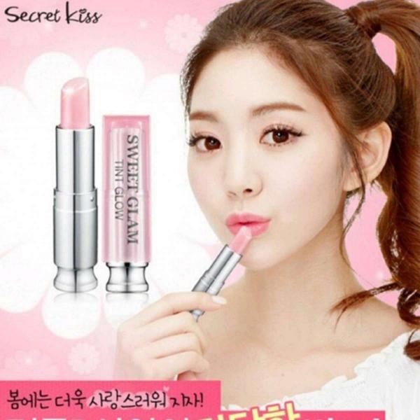 Son dưỡng môi Secret Kiss Sweet Glam Tint Glow 3.5g #Punky Pink (Hồng Đào)