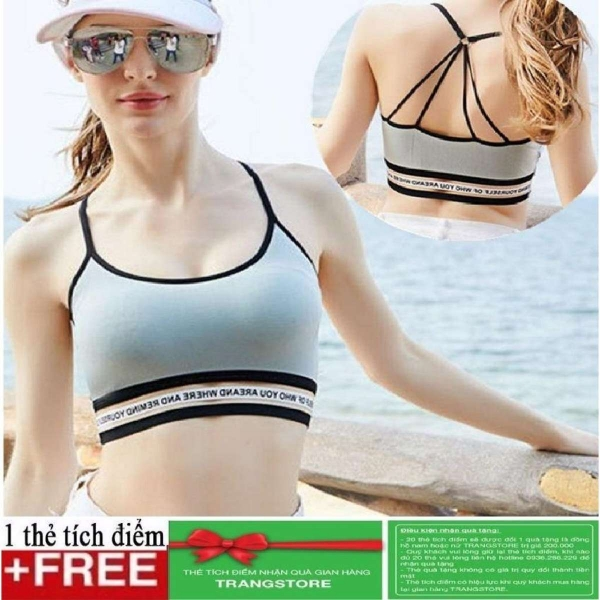 Áo bra nữ viền chữ dây chéo AL13