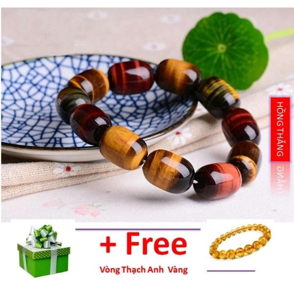 Vòng tay đá mắt hổ bầu dục nhiều màu loại 12 li- Phong thủy mang lại sự tỉnh táo, sáng suốt, khôn ngoan, hạnh phúc và may mắn