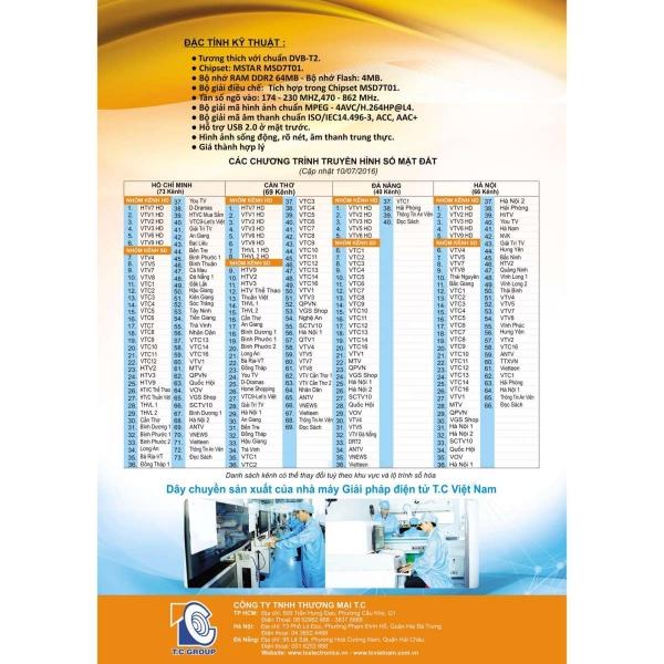 Đầu Thu Kỹ Thuật Số Mặt Đất HD Model TC – 377
