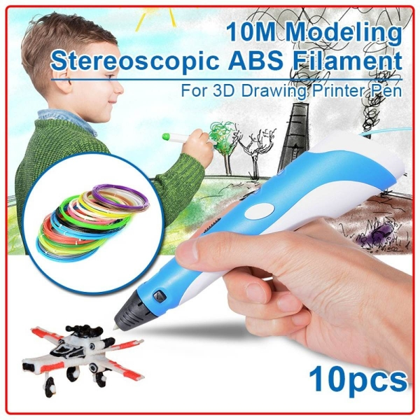 XCSOURE 10pcs 10M Modeling Stereoscopic ABS Filament For 3D Drawing Printer Pen TH089