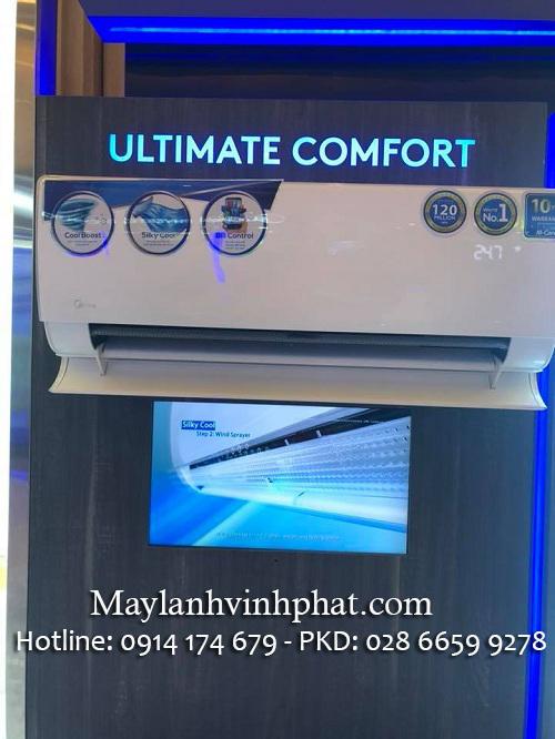 Bán Máy lạnh treo tường Midea 1HP thi công, lắp đặt giá cực rẻ tại TPHCM