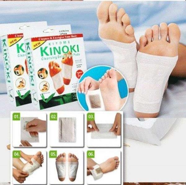 Bộ 2 Hộp( 20 Miếng) dán chân giải độc Kinoki Hữu ích