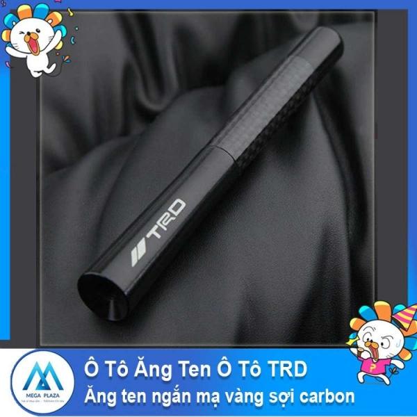 Đồ dùng ô tô ăng ten ô tô TRD ăng ten ngắn mạ vàng sợi carbon -AL
