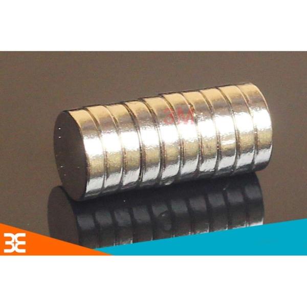 Bộ 50 Viên Nam Châm Đất Hiếm Tròn 8x2mm (từ tính hút cực mạnh)
