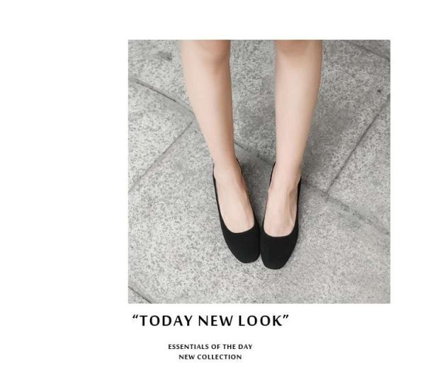 Giày búp bê cao gót 5p