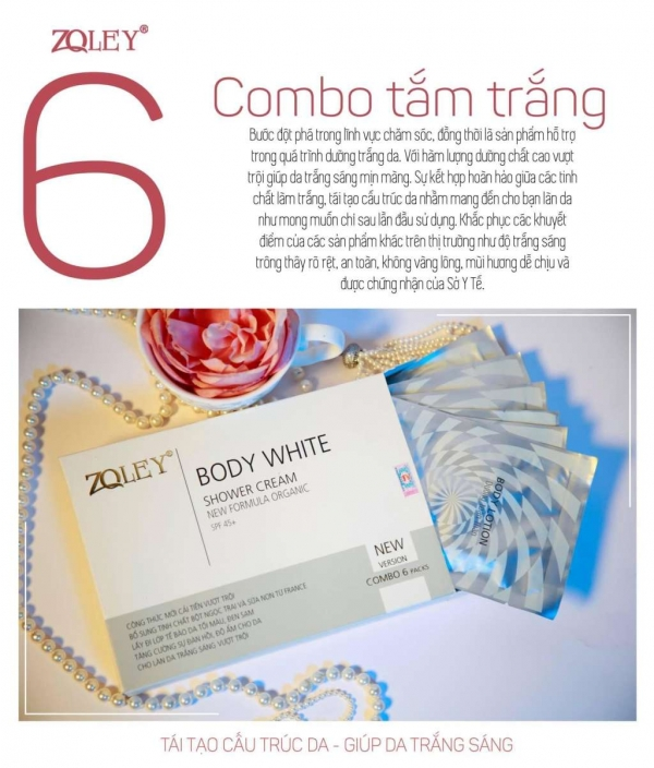 Tắm Trắng Zoley  6 Trong 1