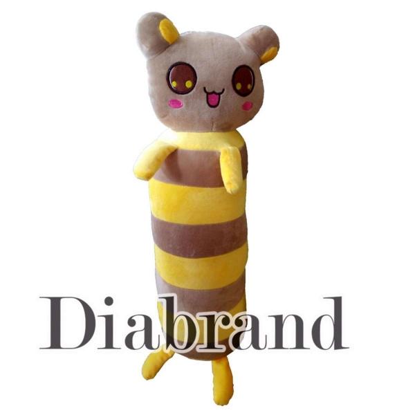Gối ôm cao cấp con ong  60cm sọc nâu vàng hàng VNXK dành cho bé-GONTE05 (nhà bán hàng Diabrand)