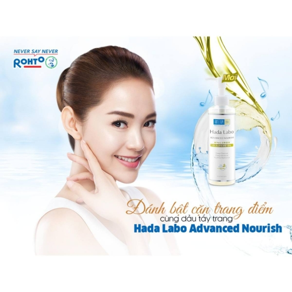 Dầu tẩy trang Hada Labo Advanced Nourish Hyaluron Cleansing Oil 200ml