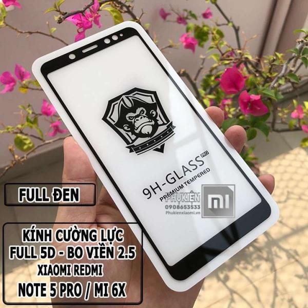[MUA 1 TẶNG 1] Kính cường lực 9H dành cho máy Xiaomi Redmi Note 5 Pro - Full viền