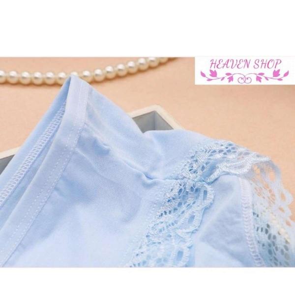 Combo 5 quần lót nữ cotton ren mềm cao cấp xuất khẩu Model