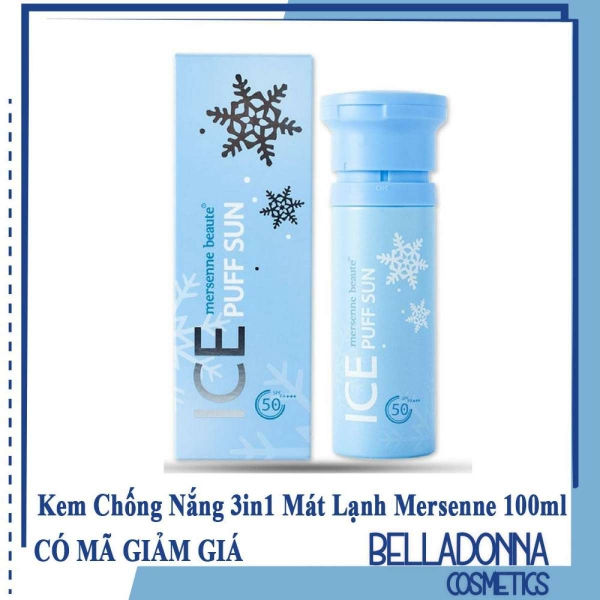 Kem Chống Nắng 3in1 make up mát lạnh Mersenne Beaute Ice Puff Sun  SPF50+ 100ml