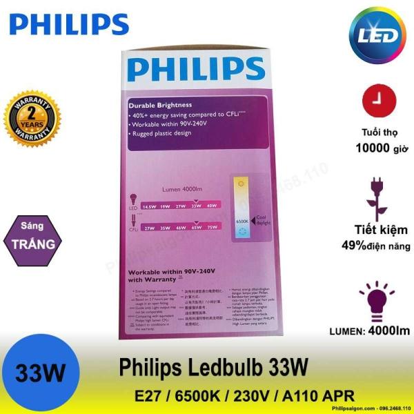 Bóng đèn Philips LEDBulb 33W E27 6500K 230V A110 APR